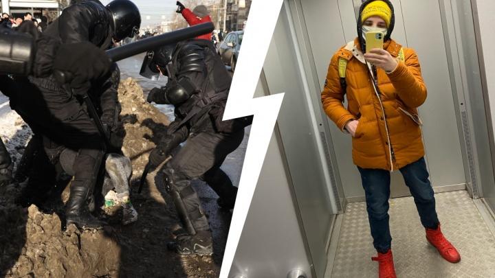 Челябинскому студенту сломали колено при разгоне протестного шествия. Оннаписал заявление вСК