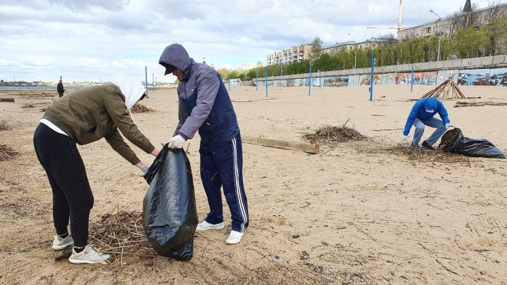 В Архангельске планируют очистить от мусора пляж в ходе субботников