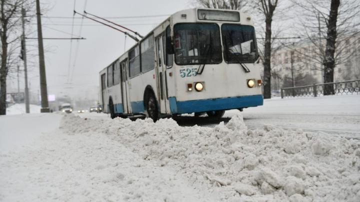 Екатеринбург накрыла ледяная буря: фоторепортаж с заваленных сугробами улиц
