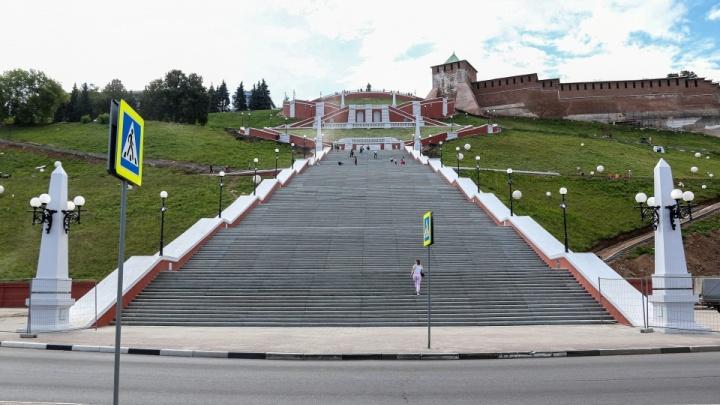 Чкаловскую лестницу снова закрыли для посещения. На этот раз временно