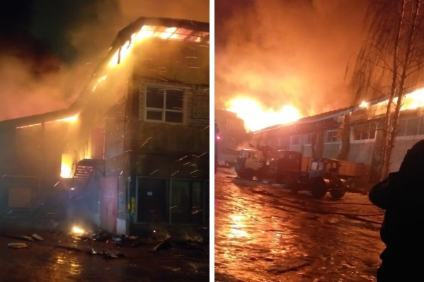 На пожар вызывали спасателей из отпусков