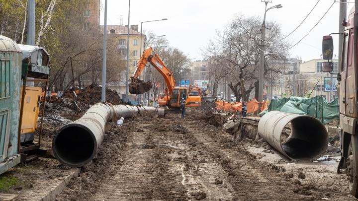 Строительству развязки на Ново-Садовой помешали коммуникации