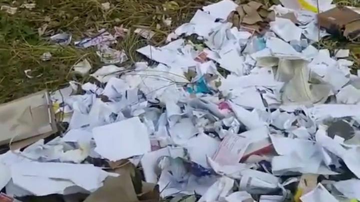 Челябинец обнаружил свалку со вскрытыми упаковками от посылок в лесу на берегу озера