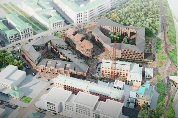 Общая площадь проекта — 45 тысяч квадратных метров