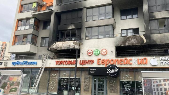 В микрорайоне Европейский горит дом — дымом заволокло всё здание