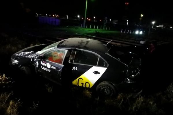 Авария произошла вечером в Новосинеглазово на улице Железнодорожной