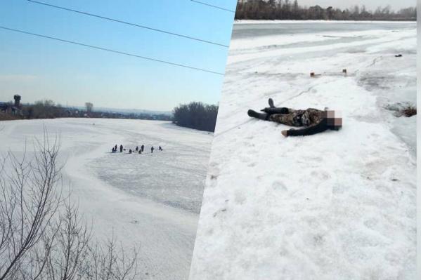 Минусинская протока Енисея — популярное место для рыбалки. Только в апреле она смертельно опасна