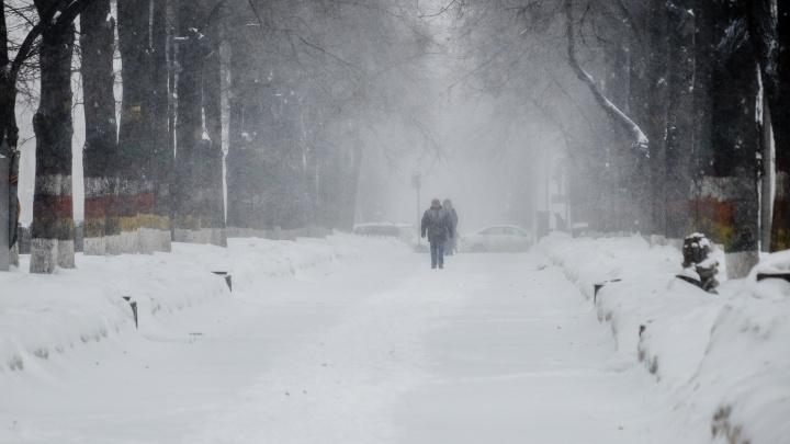МЧС предупреждает о сильном снеге и ветре в Прикамье