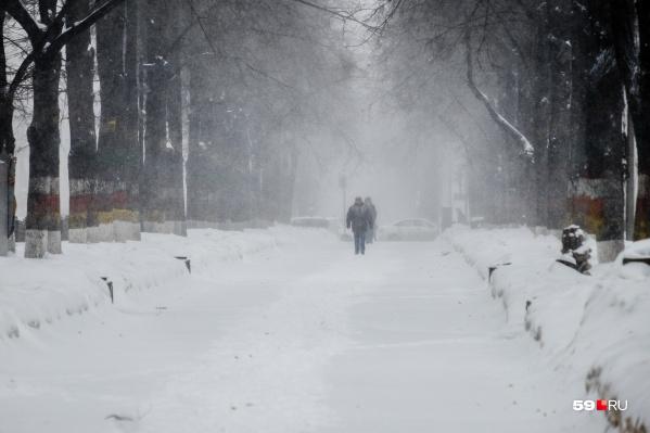 В ближайшие дни в Прикамье могут пройти метели