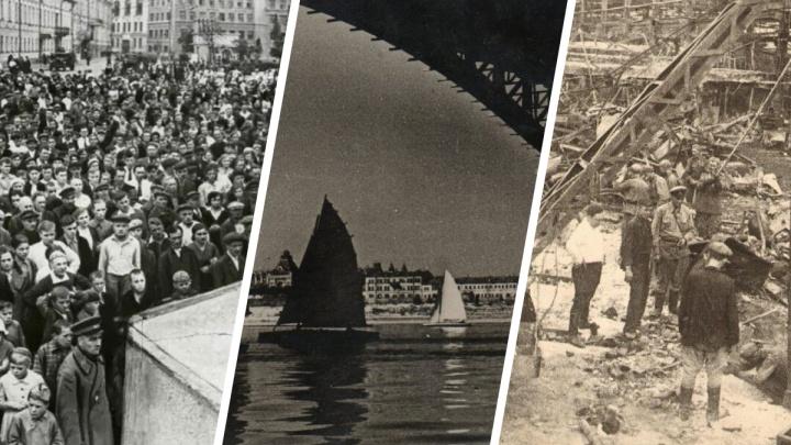 Бомбежки, танки… и парусная регата. Публикуем раритетные фото города Горького в годы войны