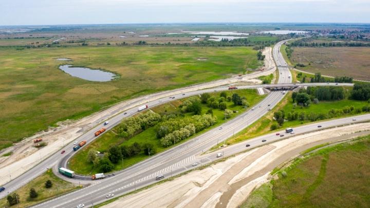 Участок Южного подъезда к Ростову сузят до двух полос