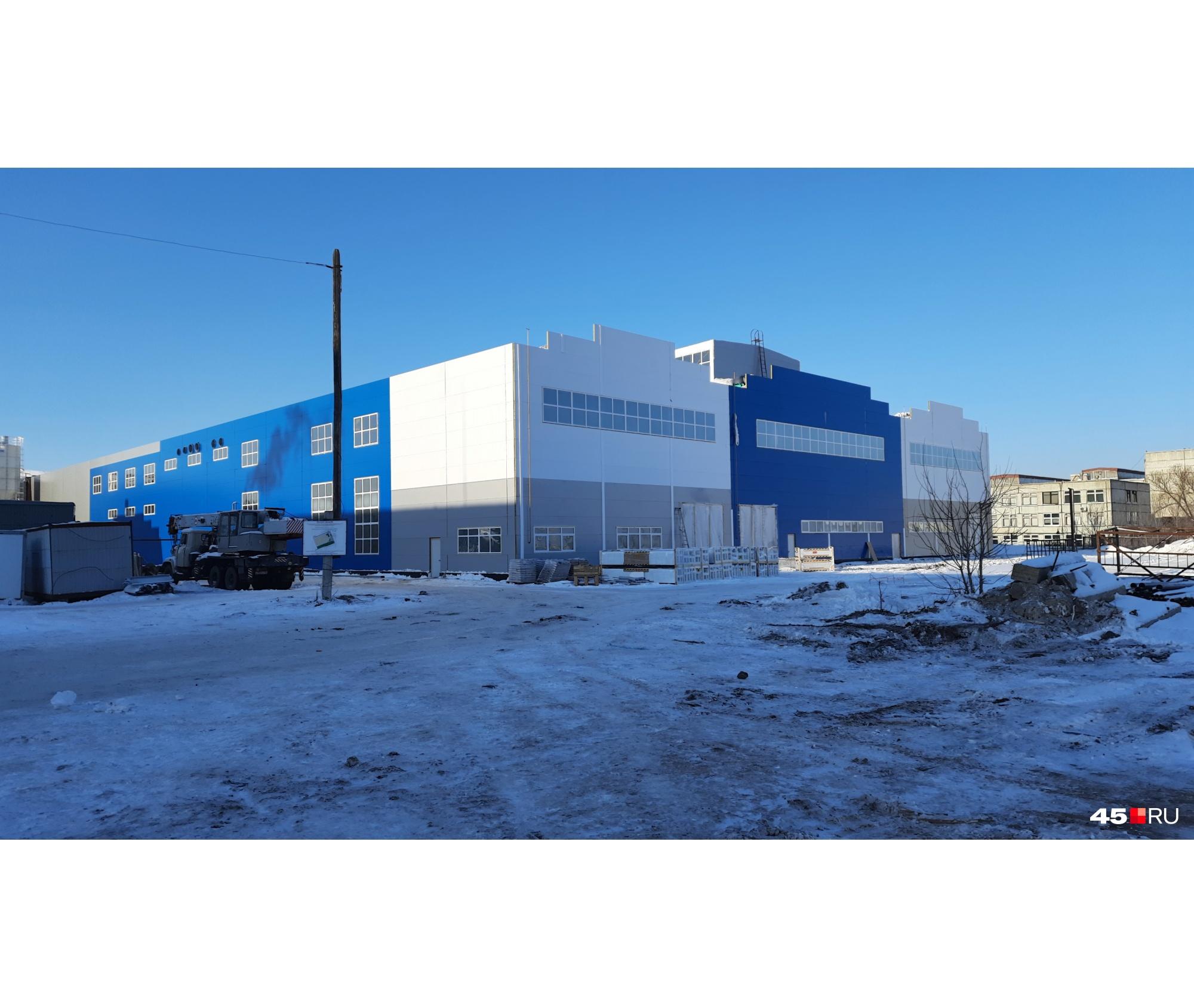 Так выглядит обновленное здание цеха на территории бывшего завода «Икар»
