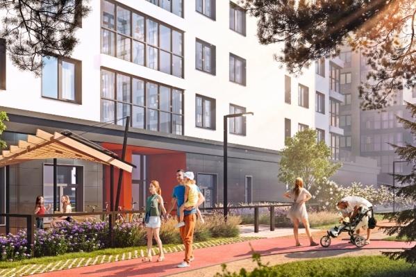 Семейные квартиры представлены как в видовых 16-этажных секциях, так и в приватных 9-этажных