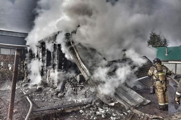 Пожар в доме случился 20 сентября