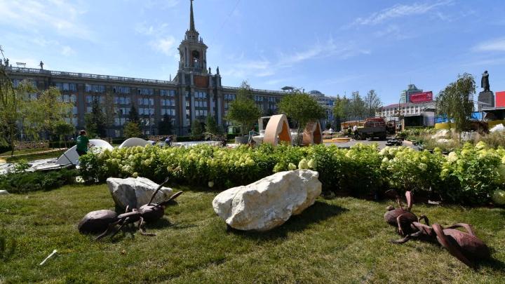 Зеленый оазис на две недели: показываем, как выглядит сад на площади 1905 года за сутки до открытия