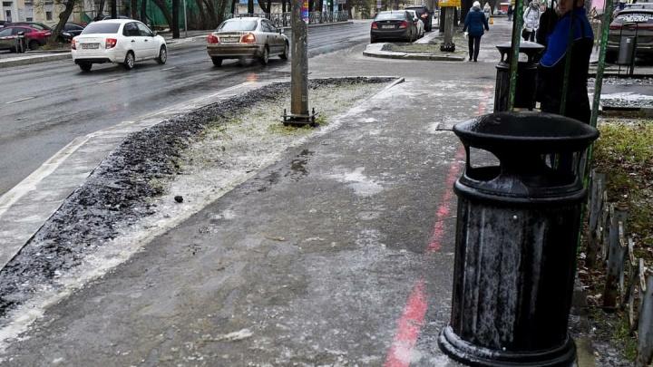 Алексей Дёмкин сделал замечания главам районов из-за наледи на тротуарах