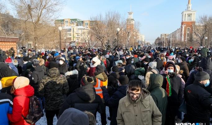 Красноярск стал вторым в Сибири по количеству готовых выйти на митинг