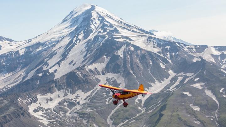 Сибиряк поднялся на самолете над вулканами Камчатки — что он увидел с высоты
