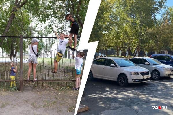 Жители недовольны тем, что на территории двора негде поиграть детям. С территории сквера их просто выгоняют, а возле дома нет места для подвижных игр