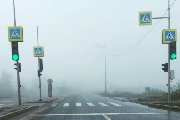 Дорогу заволокло белой пеленой: будьте осторожны по пути на работу