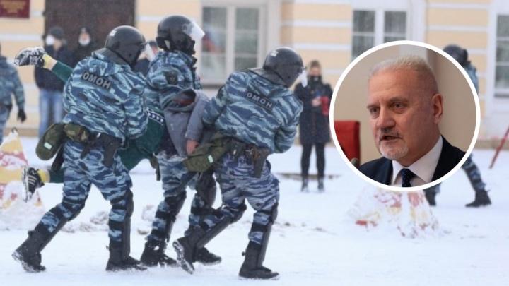 Омбудсмен оценил законность задержания людей на январских митингах в Ярославле