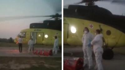 """Югорчанина, который прогнал вертолет, прилетевший забирать пациента с <nobr class=""""_"""">COVID-19</nobr>, задержали"""