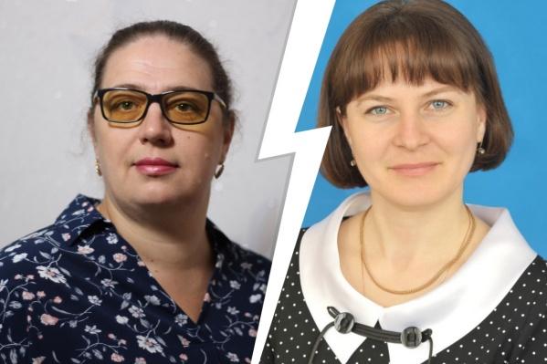 Учитель Юлия Бухтиярова (слева) заявила, что директор школы Галина Парфенюкова лишила ее классного руководства из-за политических взглядов