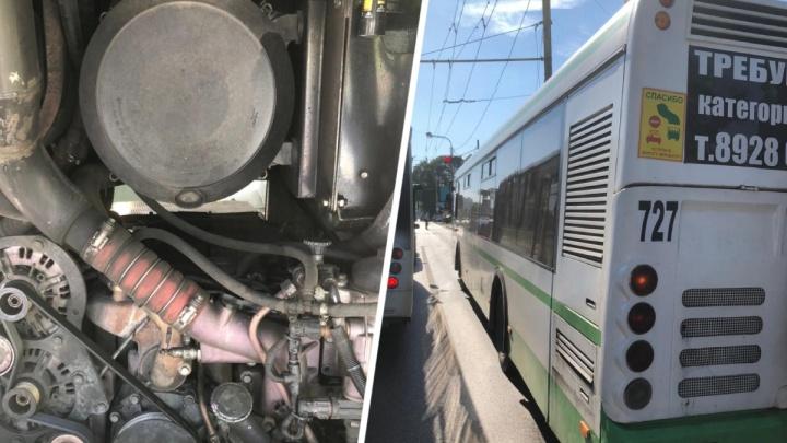 Ростовские власти заявили, что автобус на проспекте Стачки не горел. Он просто перегрелся на жаре