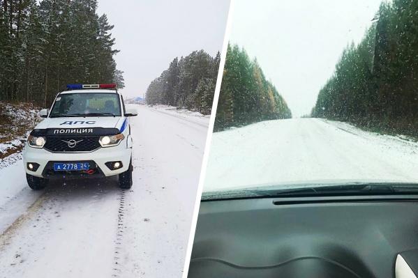 Сейчас на дорогах края работают 206 спецмашин и чистят снег
