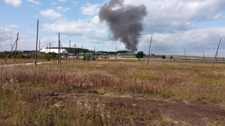 На базе отдыха «Белая лошадь» под Екатеринбургом произошел пожар