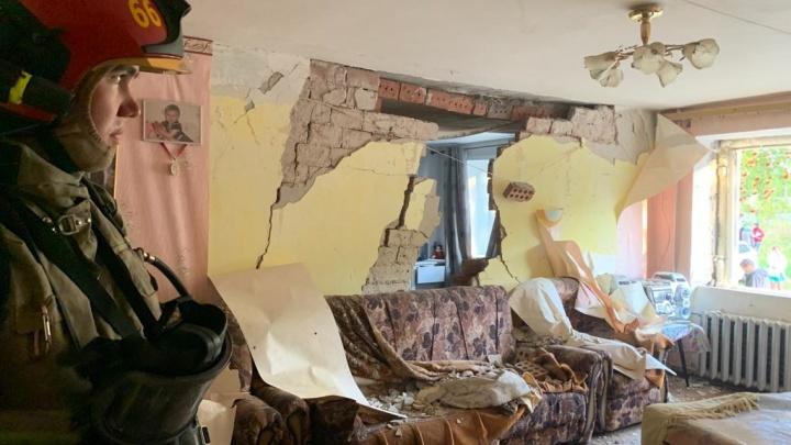 В мощном взрыве газа в Верхней Пышме разрушило стены нескольких квартир. Пострадавший в больнице