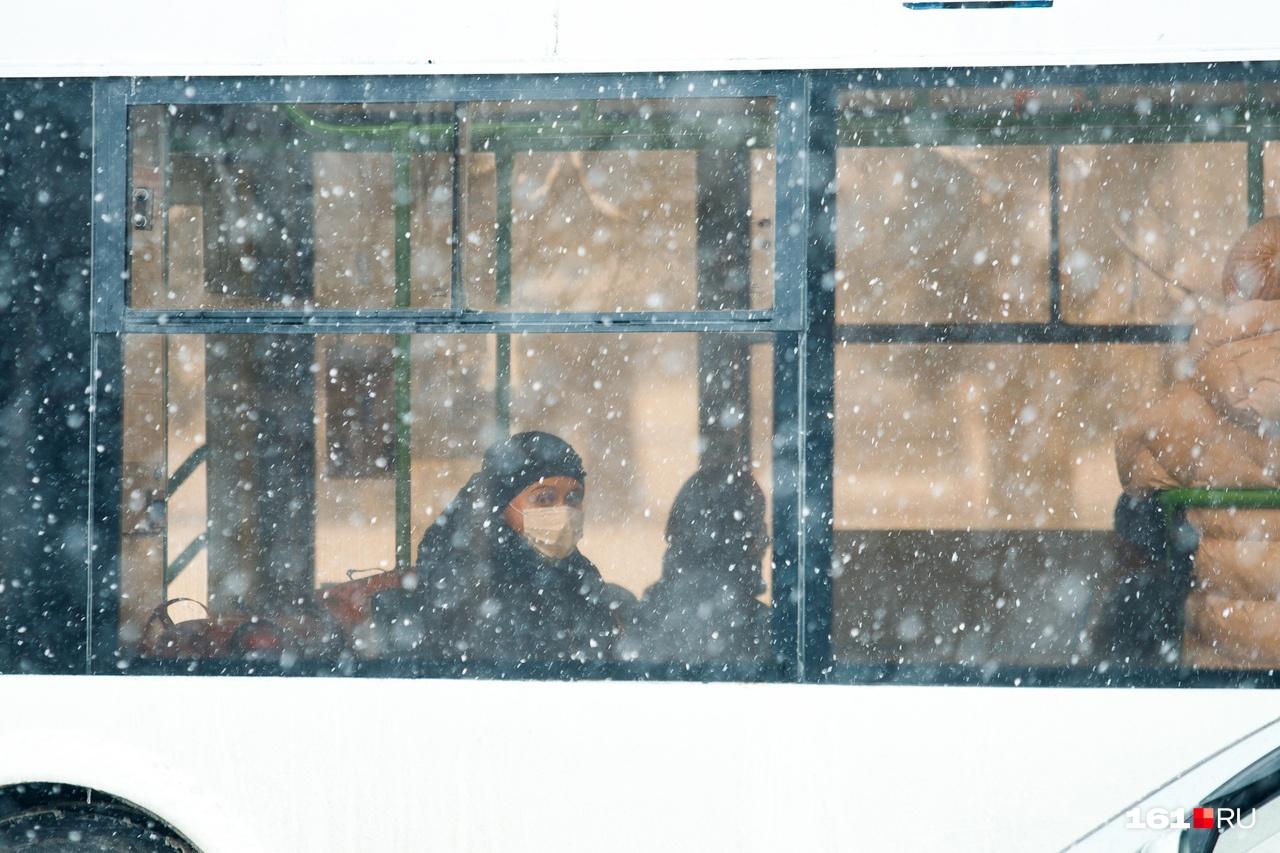 Пустой общественный транспорт действительно редкость в Ростове