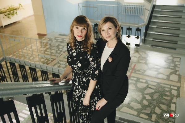Учителя-двойняшки Наталья (слева) и Татьяна работают в школе № 121