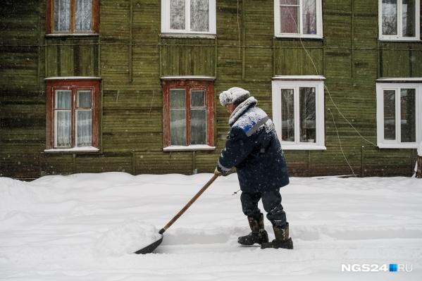 На прошлой неделе в Красноярске выпало очень много снега