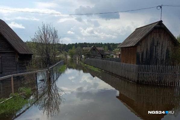 Улицы в дачных массивах около «Шушенского бора» превратились в реки
