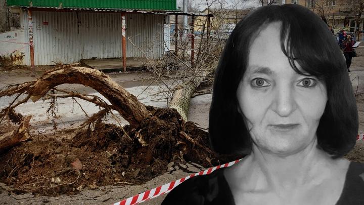 «Попутчице повезло, а маму раздавило»: всё, что известно о гибели женщины, убитой деревом в Волгограде