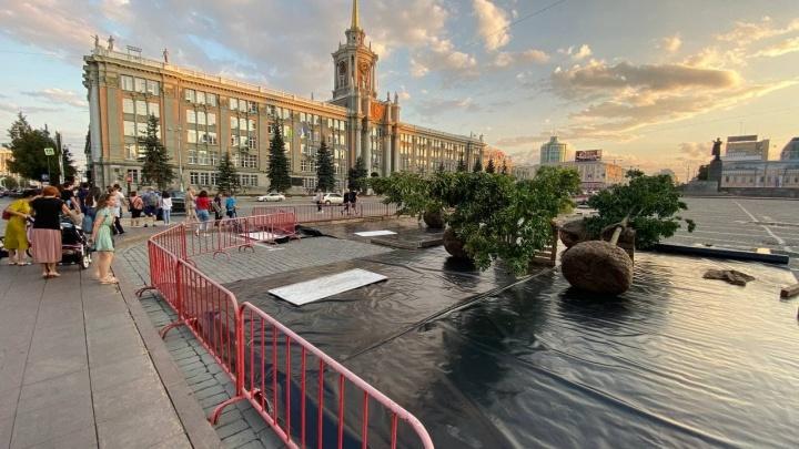 Вместо парковки вырастет сад: прямой эфир с площади 1905 года