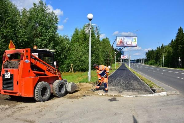 В Ханты-Мансийске обустраивают велодорожки
