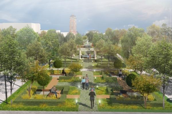 В центре «ВЯЗ» обещают превратить Комсомольский сад в интернациональный «винегрет»