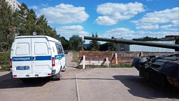 Полиция возбудила уголовное дело после пропажи артиллерийского снаряда на набережной Оми