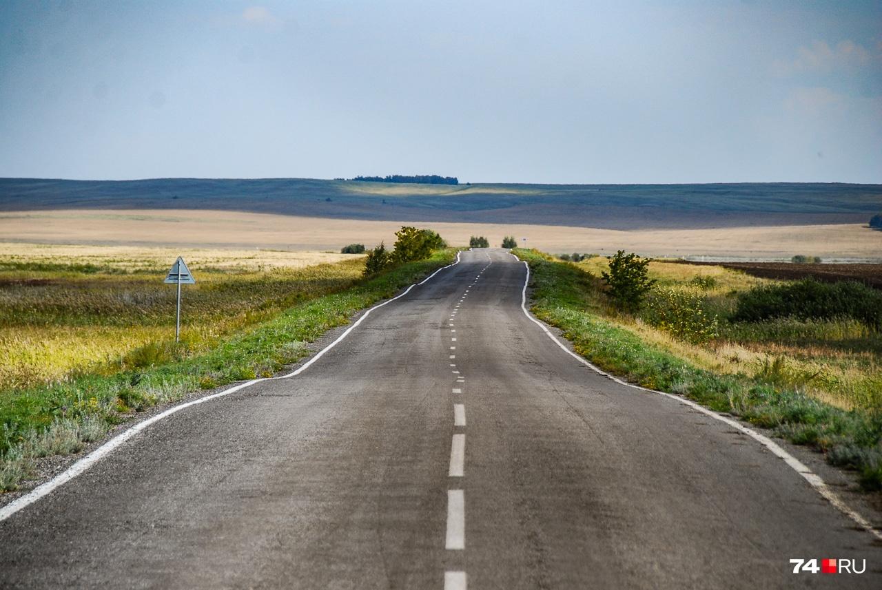 Дорога где-то в районе Варны (юг Челябинской области)