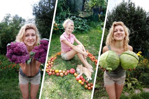 Мария также любит выращивать цветы