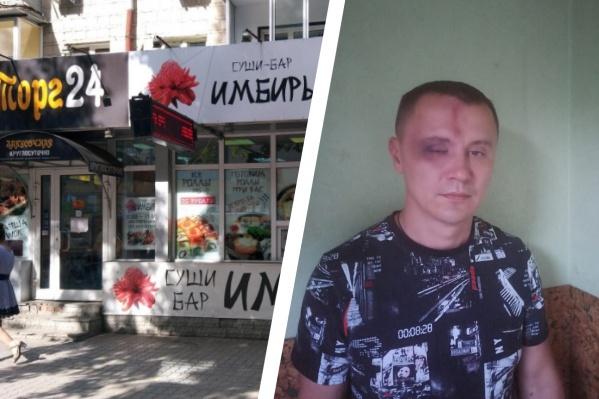 Вячеслав рассказывает, что его избили после того, как он сделал замечание толпе мужчин