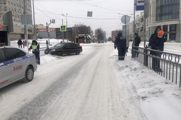 Девочку с места аварии увезли в больницу