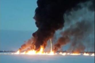 В Ростехнадзоре заявили, что из-за аварии на трубопроводе под Нижневартовском возможна угроза экологии