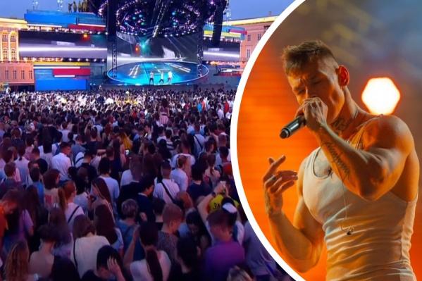 Уральский рэпер выступил перед многотысячной толпой выпускников на ежегодном празднике «Алые паруса»