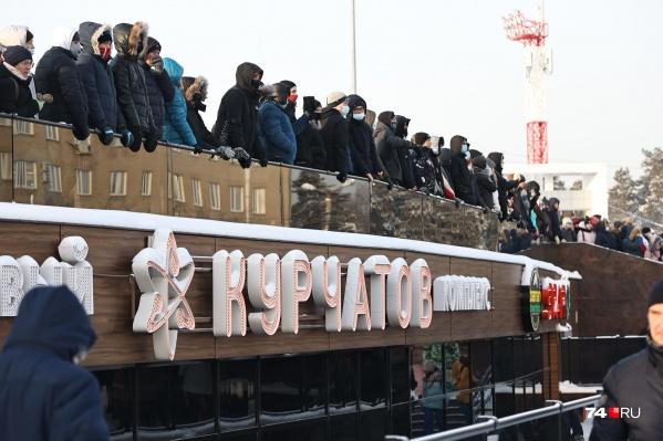 23 января в ТК «Курчатов» спускались многие участники акции — погреться и перекусить