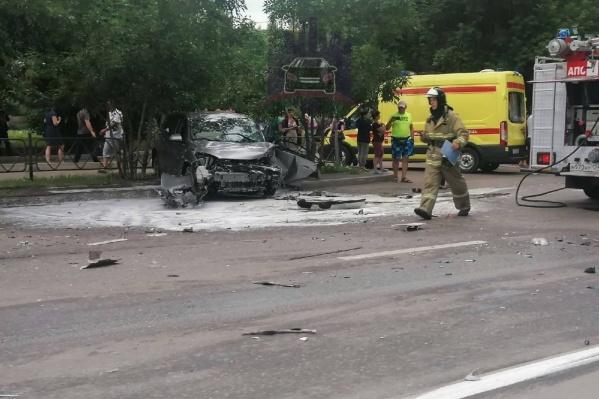 Авария на Калинина. Все живы, но автомобили пострадали сильно