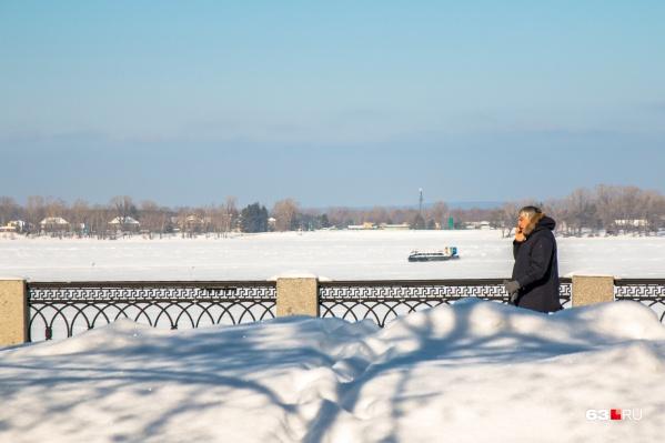 Набережная в Самаре популярна и зимой