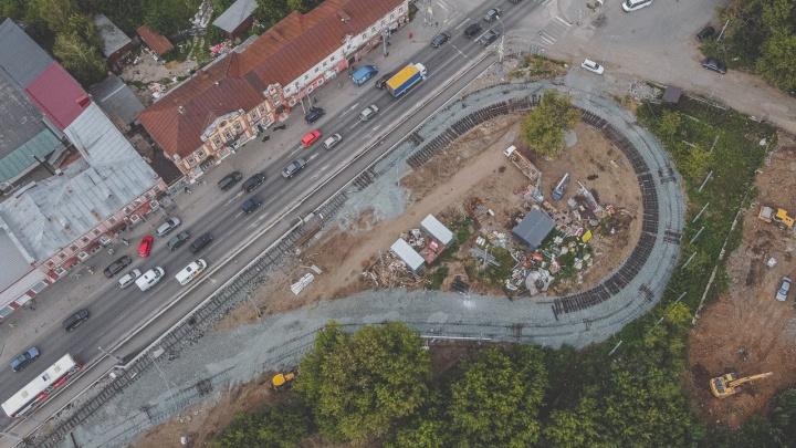 Власти Перми заявили об окончании ремонта трамвайных путей в Мотовилихе. Кажется, это не так